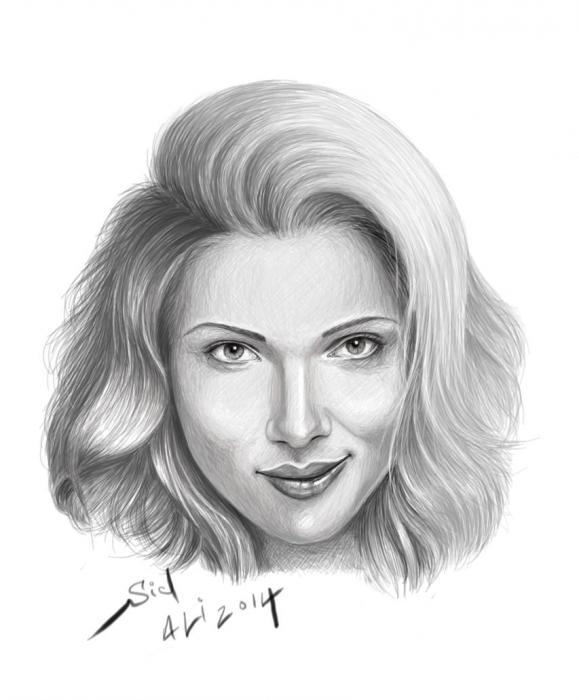 Scarlett Johansson by 3alilou